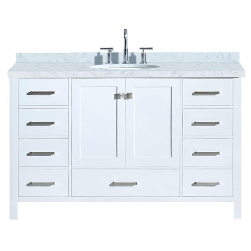 Ariel A055s Vo Marble Vanity Tops Single Sink Bathroom Vanity