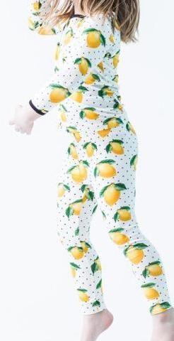 94f3735a0 Peregrine Kidswear Lemons Premium Toddler 2pc Pajama Set
