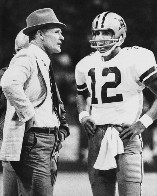 Dallas cowboys tom landry roger staubach glossy 8x10 photo print nfl poster from