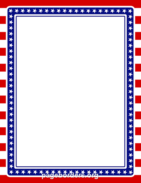 photo regarding Free Printable Patriotic Invitations known as Pin by way of Muse Printables upon Web site Borders and Border Clip Artwork