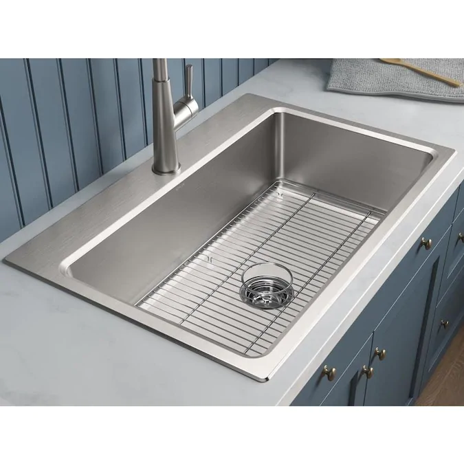 Shop American Standard Memphis 33 In X 22 In Stainless Steel Single Basin Drop In Or Undermou Drop In Kitchen Sink Single Sink Kitchen Single Bowl Kitchen Sink