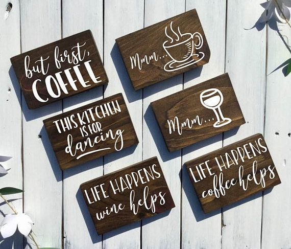 Coffee Signs Kitchen Decor Mini Kitchen Signs  Rustic Kitchen Decorrustic Kitchen Signs
