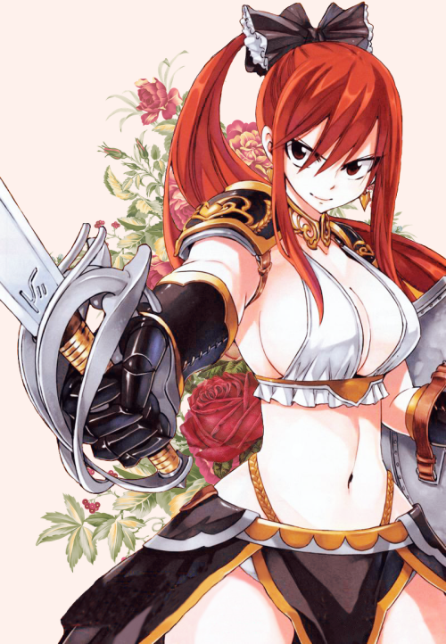 Erza scarlet sexy red heads fairy tail manga read - Fairy tail erza sexy ...
