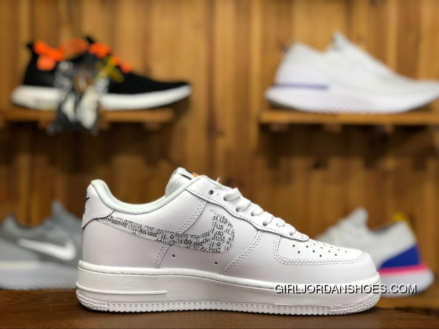 6ef01dfb6ca9 Nike Air Force 1 Just Do It Pack White AF1 AR7719-100 36-44 White Unisex  Skateboard Shoes Copuon
