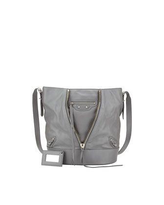 Papier Drop Bucket Bag, Gray by Balenciaga at Neiman Marcus.