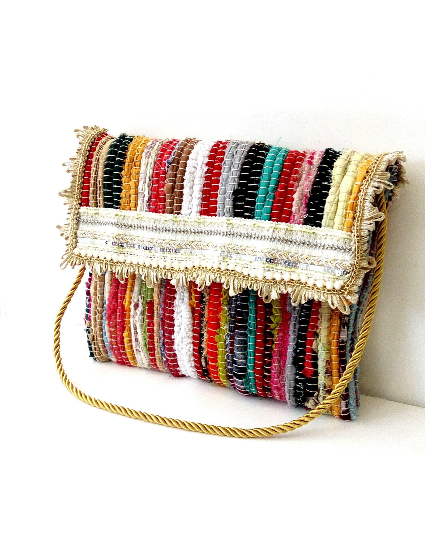Greek Design   Messenger bag  Bohemian Burlap Handmade Bag