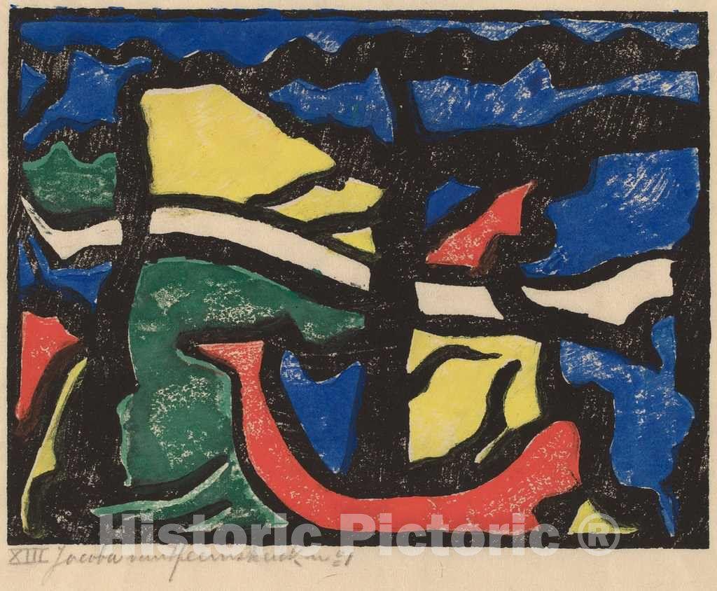 Artist: Jacoba van Heemskerck van Beest | Print: Composition | Original Medium: color woodcut on japan paper
