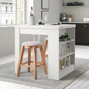 Latitude Run Taulbee Dining Table In 2020 Counter Height Dining Table Solid Wood Dining Table Dining Table