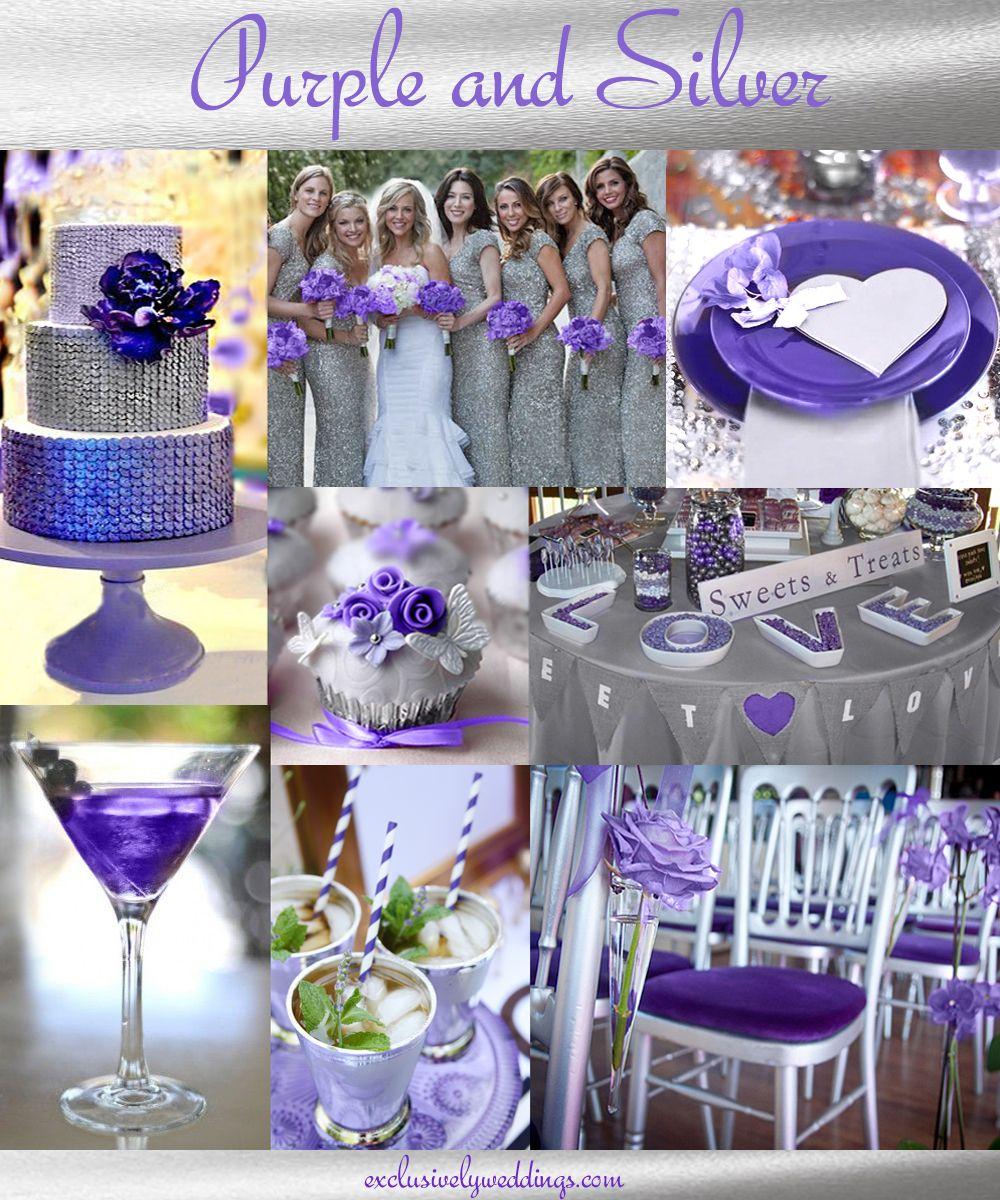 Purple Wedding Color Combination Options Purple Silver