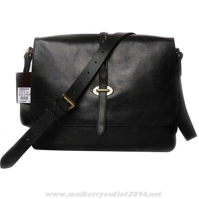 85e98bea43 Mulberry Mens Perry Natural Leather Messenger Bag Black Coupons Sale ...