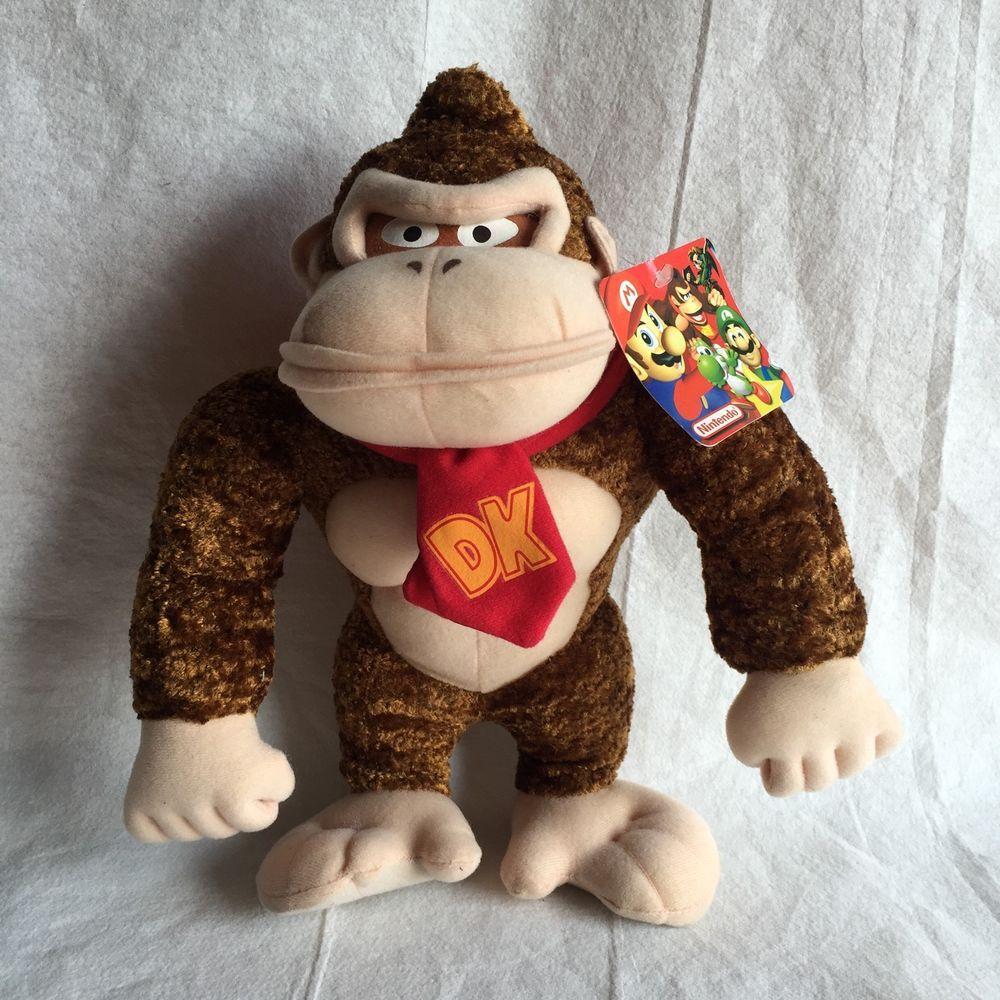 Nintendo Donkey Kong Mario Brothers Stuffed Animal Plush Monkey