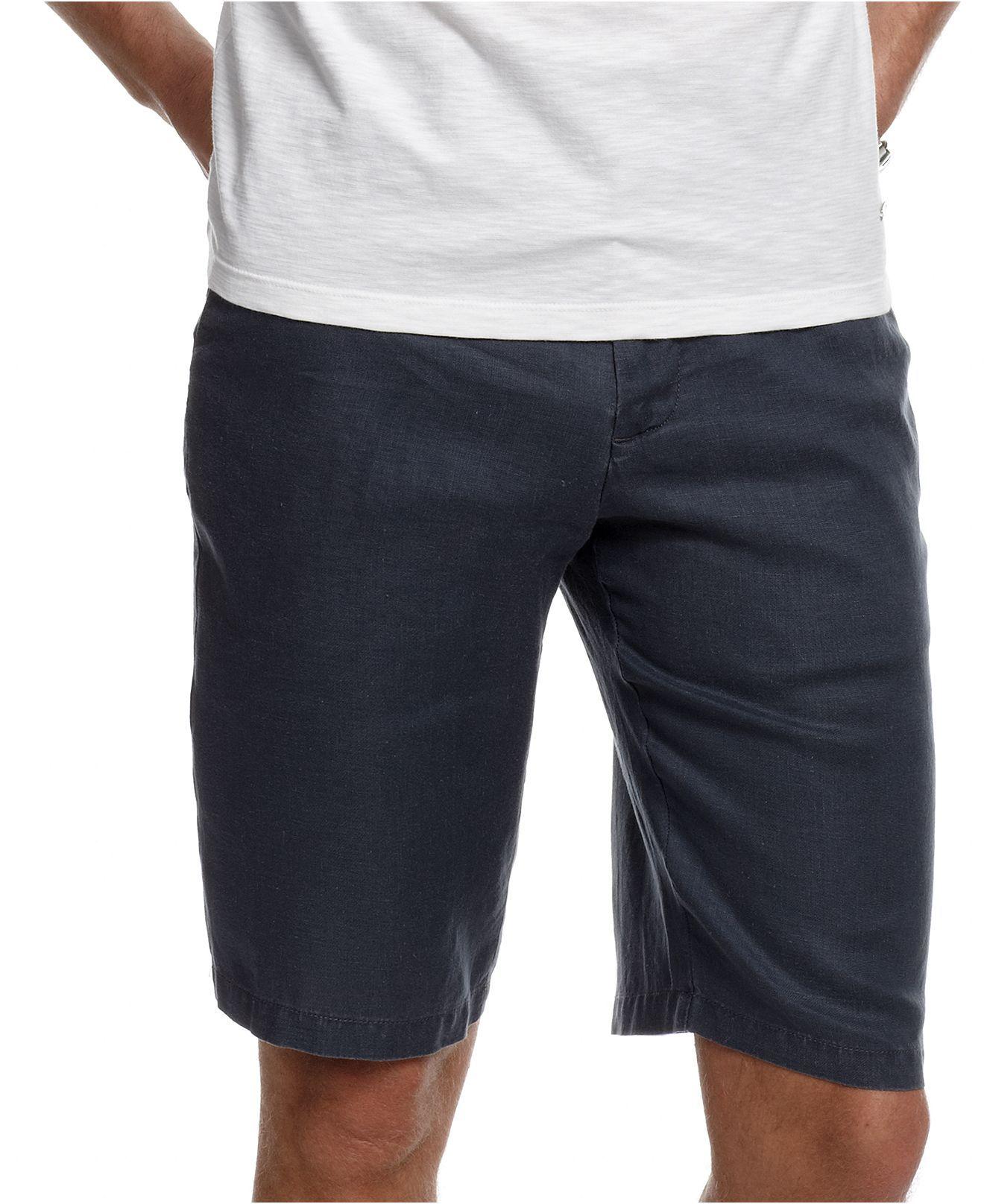 Calvin Klein Shorts, Linen Shorts - Mens Shorts - Macy's | Shorts ...