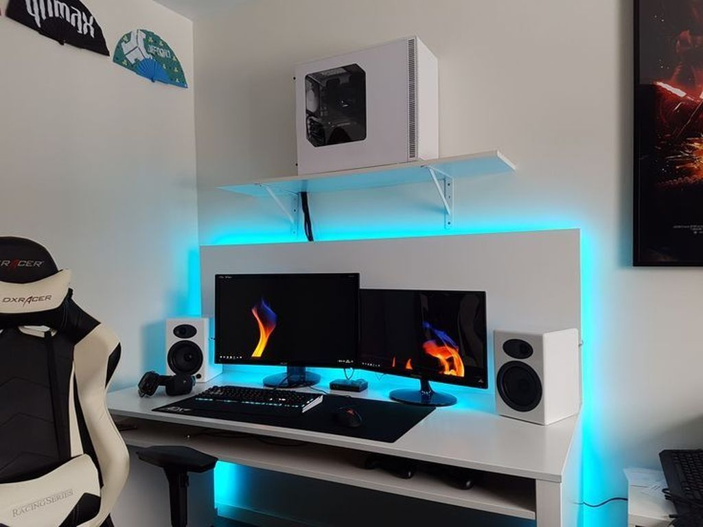 41 Amazing Gaming Desk Ideas #gamingdesk