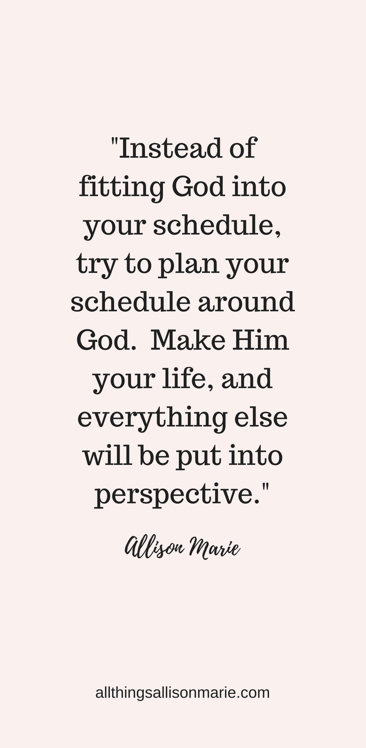 How to Create the Perfect Quiet Time Routine for You | All Things Allison Marie