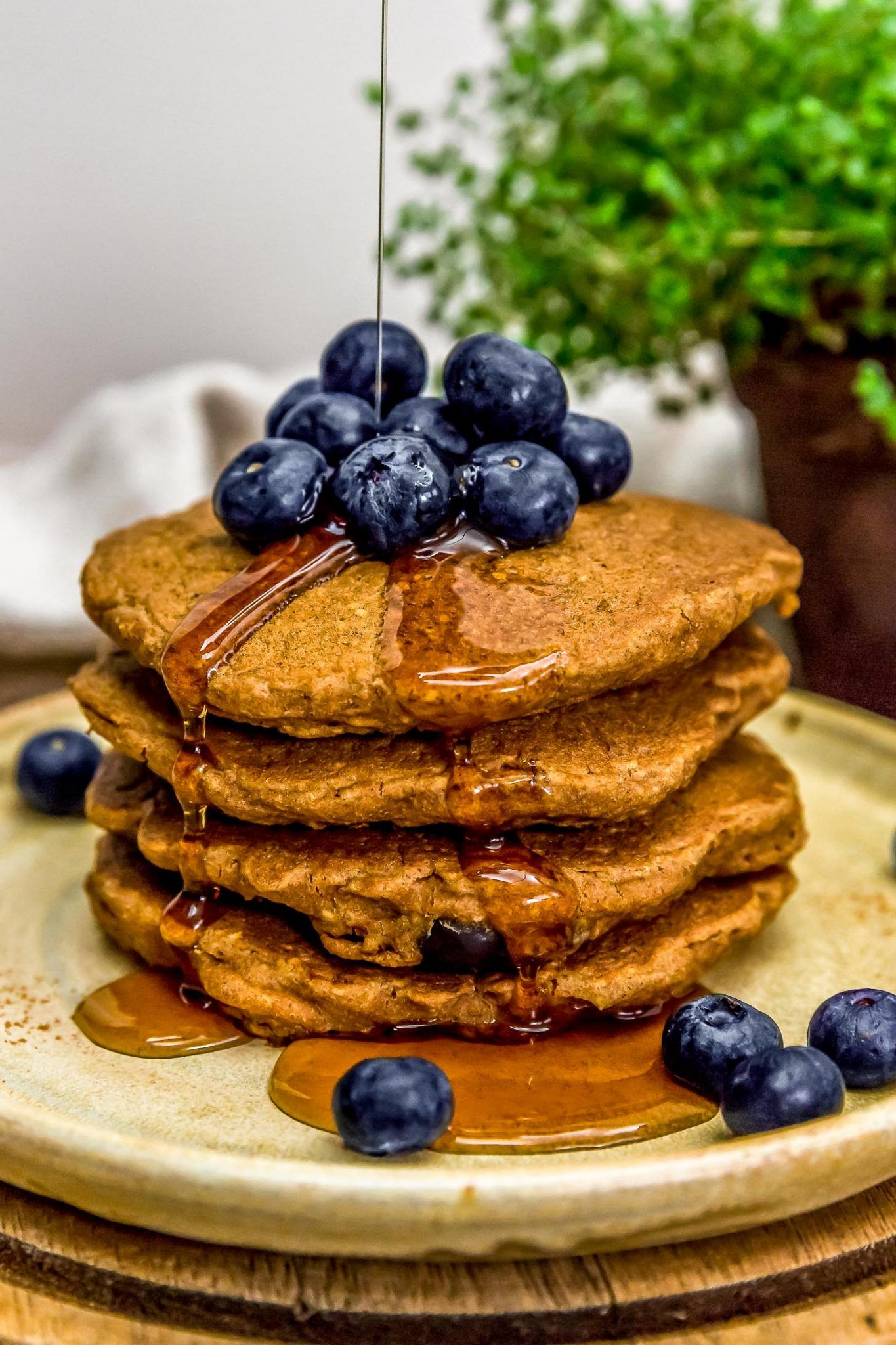 hearty blueberry oat pancakes monkey and me kitchen adventures recipe in 2020 oat pancakes on hebbar s kitchen recipes oats id=68970