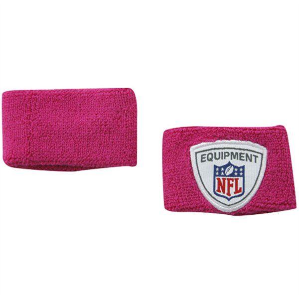 Reebok NFL Breast Cancer Awareness 2-Pack Pink 2'' Wrist Sweatbands