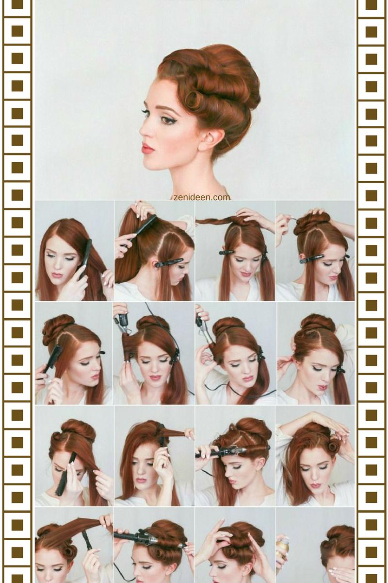 Die Rockabilly Frisur Durch Den Blick Der Modernen Frau Frisurentrends Zenideen Rockabilly Frisur Haar Styling 50er Jahre Frisur