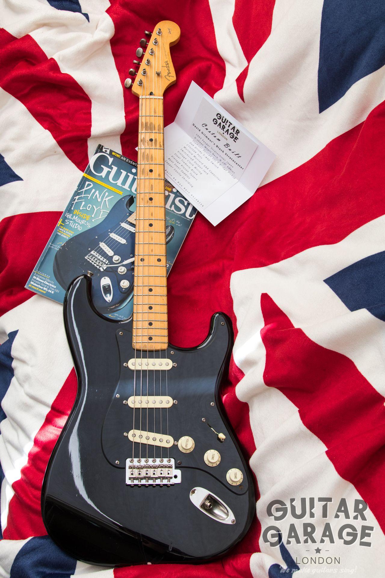 GUITAR GARAGE LONDON CUSTOM BUILT Dave Gilmour's Black Strat