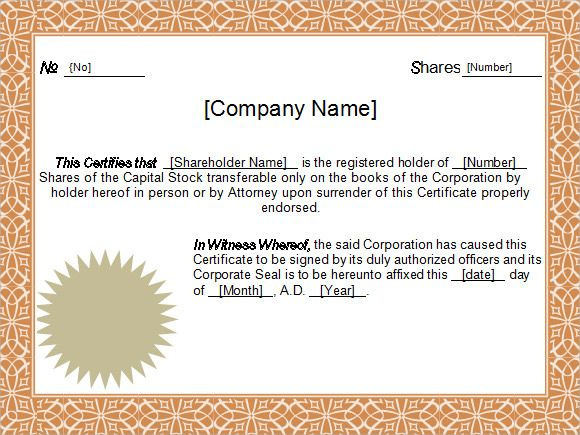 Image Result For Free Download Word Fancy Certificates Templates