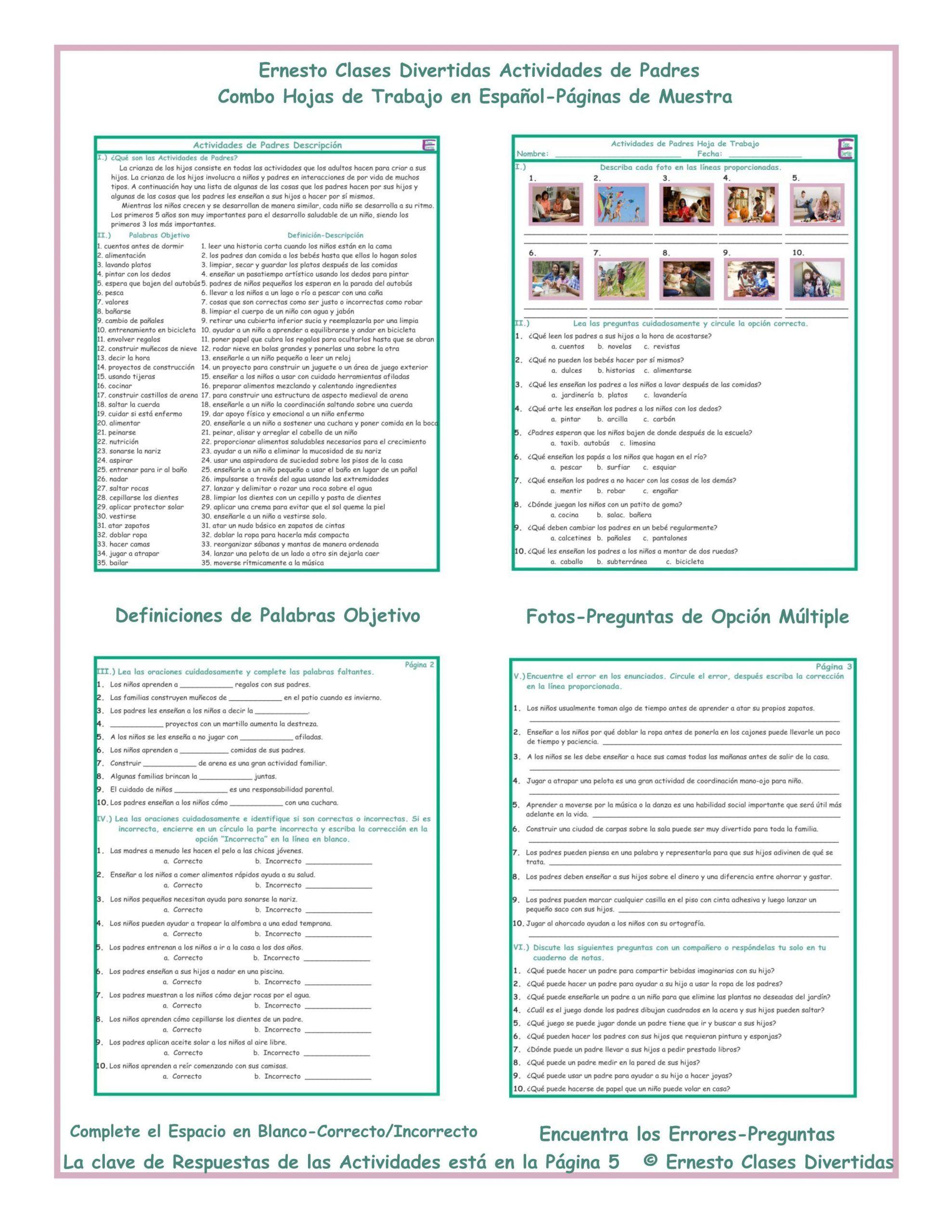 La Casa Worksheets Activities Parenting Activities Bo