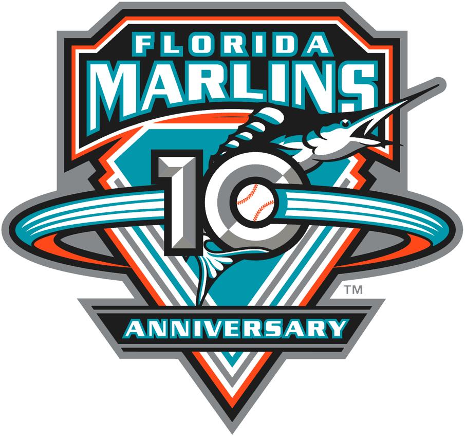 Florida Marlins Anniversary Logo Anniversary Logo Mlb Team Logos Event Logo