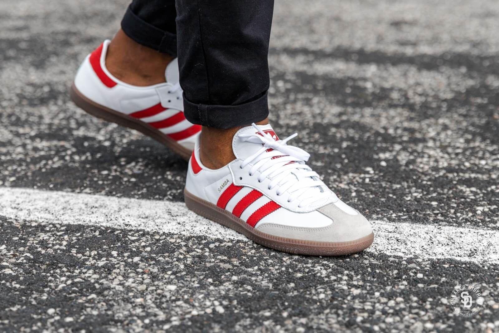 cec595d7 Adidas Samba OG Footwear White/Scarlet - B44628   Zapatos in 2019 ...