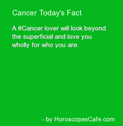 Cancer will look beyond the superficial and love you wholly for who you are.