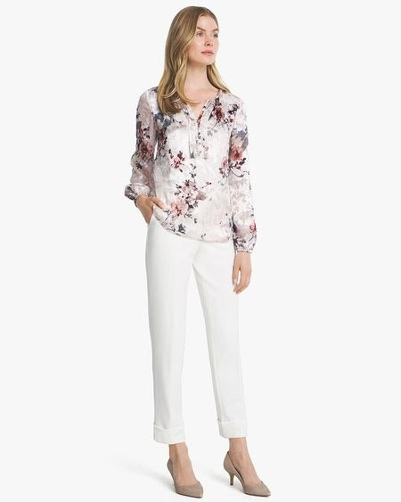 7834d8e272f13 Women s Silk Burnout Floral Blouse by White House Black Market ...