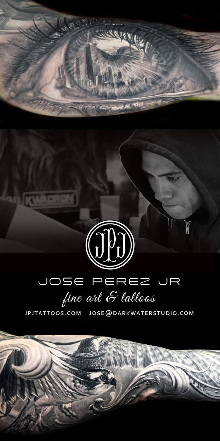 Jose Perez Jr owner of Dark Water Studio in Chicago's Southwest suburb of Willow Springs IL. Follow JPJ on Instagram @JosePerezJrTattoos Visit www.JPJTattoos.com for appointment information or email Jose@DarkWaterStudio.com