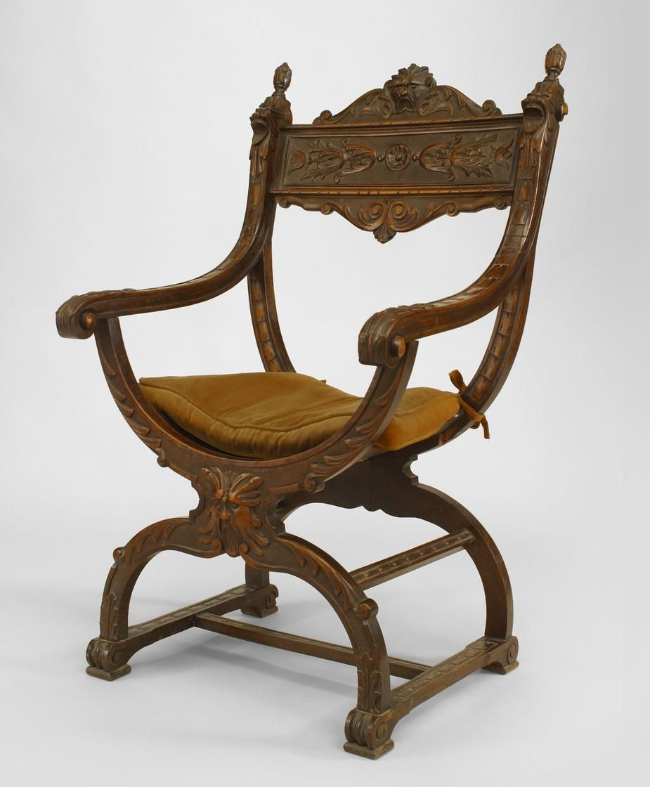 italian renaissance seating chair arm chair walnut
