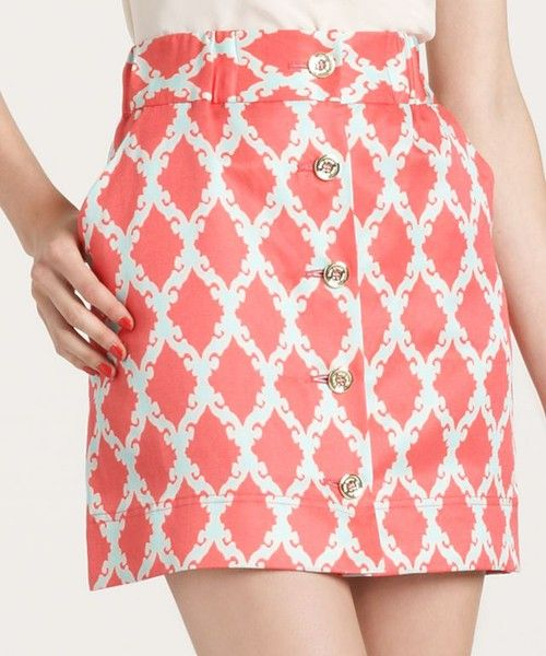love this skirt - patterned with buttons      Kate Spade