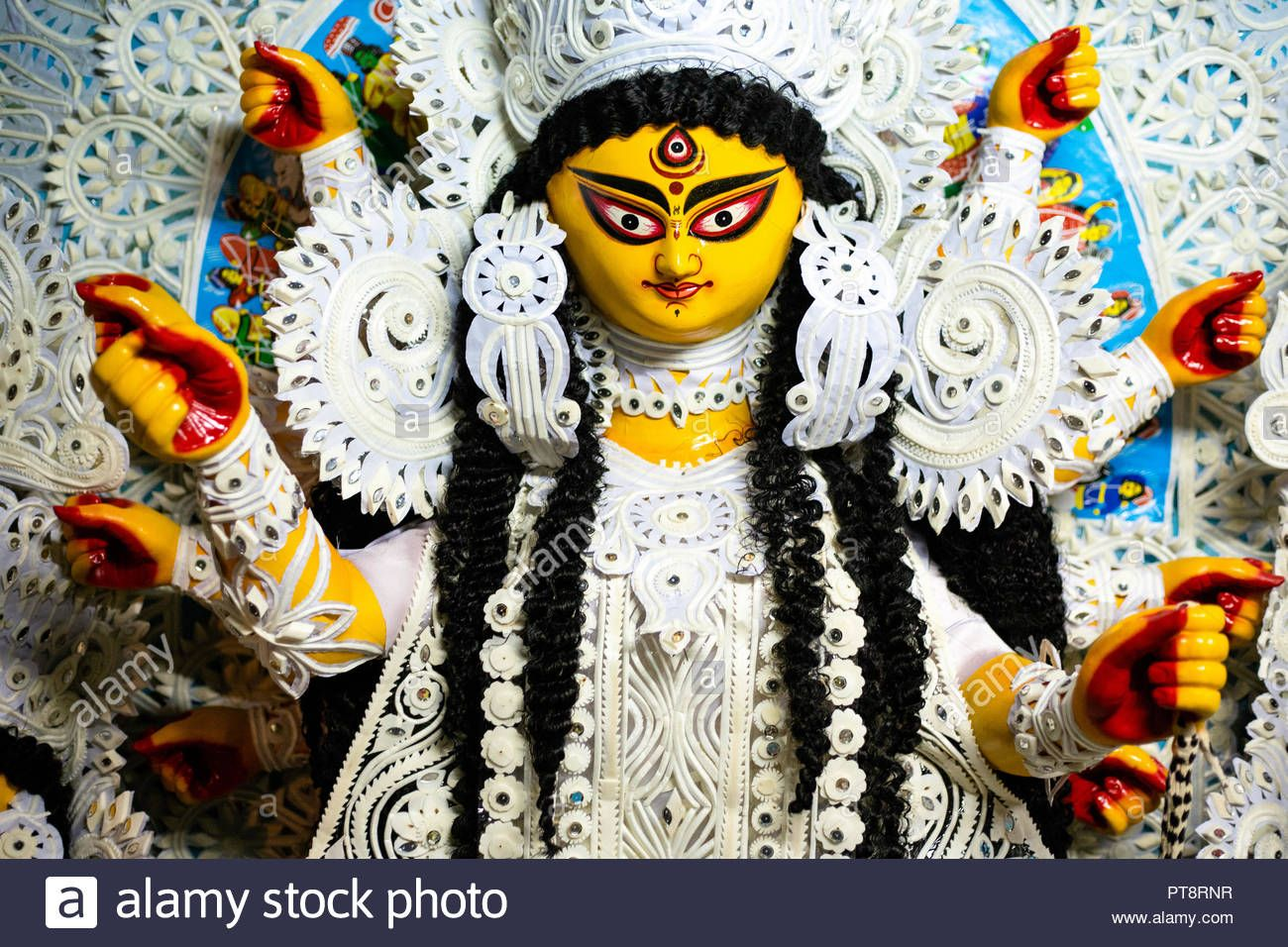 Download This Stock Image Durga Maa Durga Idol Durga Puja In Kolkata West Bengal Pt8rnr From Alamy S Library Of Millions Of Durga Maa Durga Images Durga