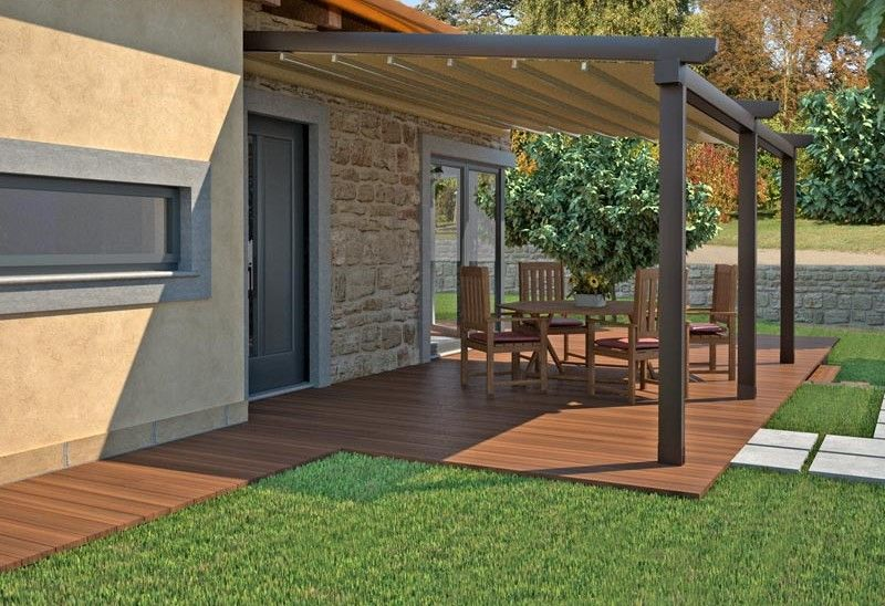 Beau Patio Awnings Fitted Attached To Home For Backyard Patio Space With Cool  Flooring Ideas