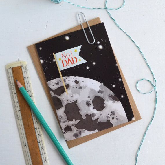 No 1 Dad. Fathers Day Card by Hannah Stevens Shop on Etsy.  Don't forget Father's Day, June 21.