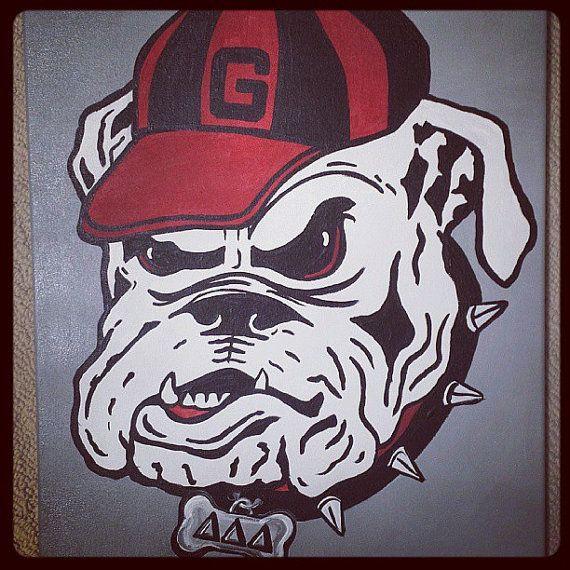 Uga Bulldog Wall Art 16x20 Uga Bulldogs Georgia Bulldogs Football Georgia Bulldogs