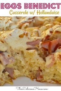Easy make-ahead savory breakfast casserole. Don't miss this delicious eggs Bened...   - Christmas Brunch - Christmas Morning Breakfast -