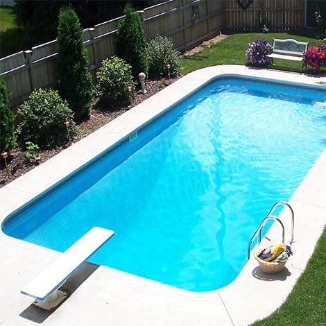Inground Pool Rectangle 16x32 Pool area Pinterest Entrance