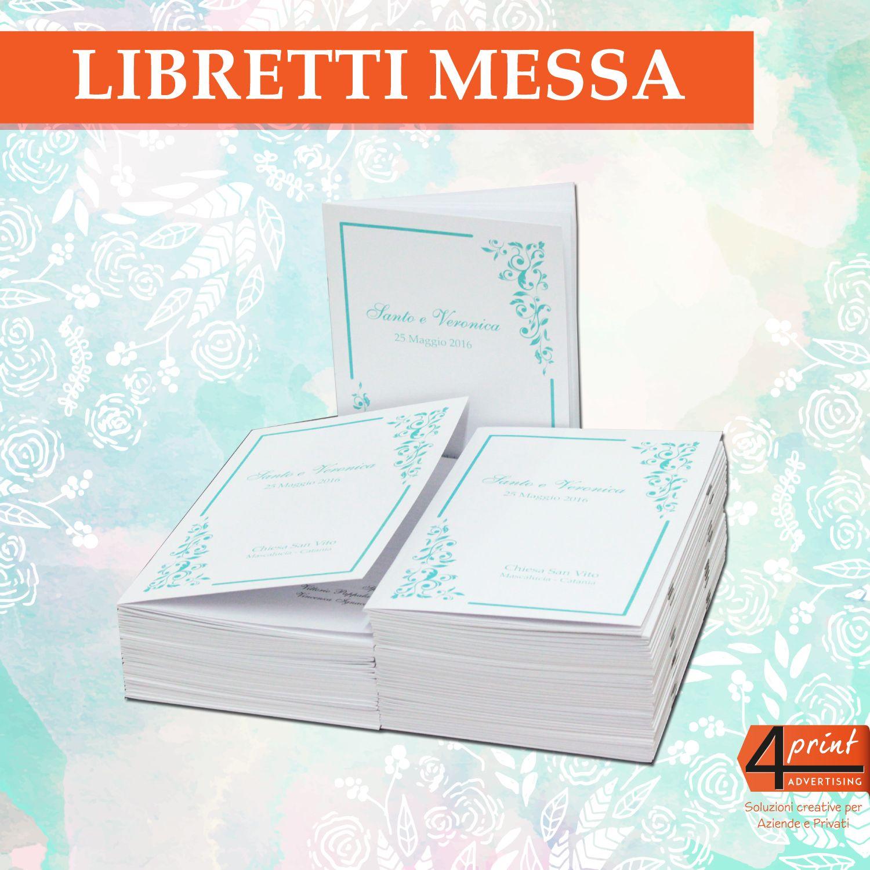 Libretti Messa Matrimonio In Vista Non Dimenticare I Libretti Messa Indispensabili Per La Cerimonia Religiosa Esempio Di Li Copertina Cartoncini Immagini