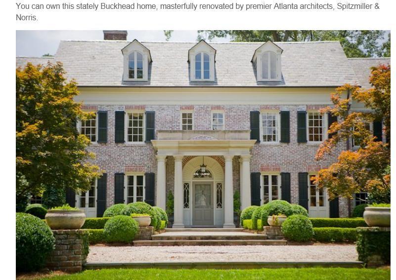 Whitewashed brick colonial black shutters white porch for Casa vittoriana in mattoni