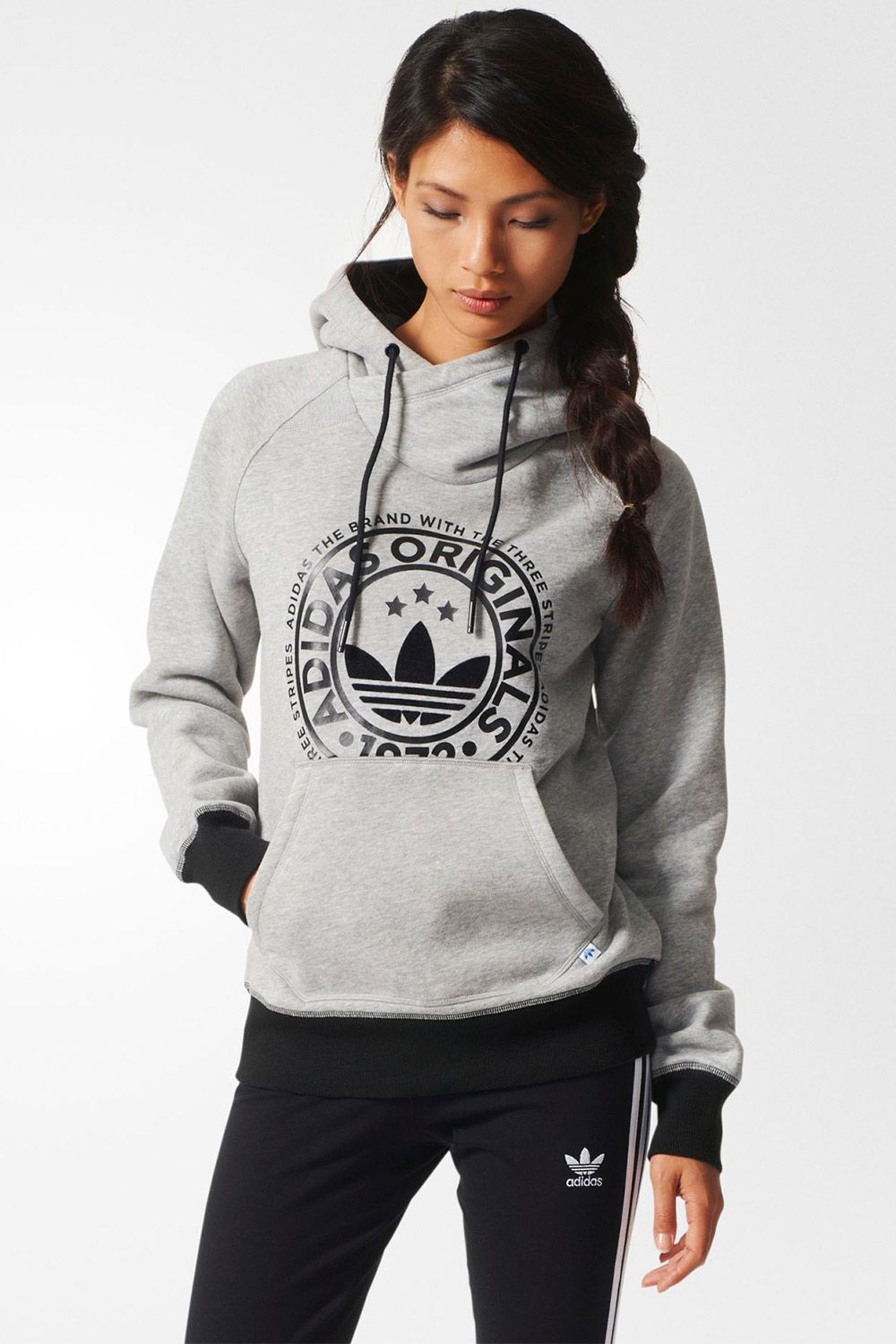Moletom Adidas Hoodie Fle Heather - BabadoTop Ropa Deportiva 81c98f5605cac