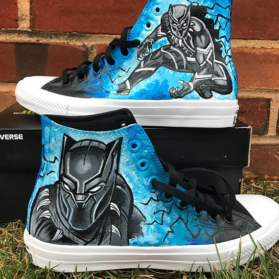 Converse Black Lab Custom High Top Shoes . Shoes with Dogs