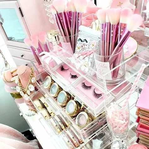 60+ Ways to Style Your IDEAL Beauty Space Makeup storage