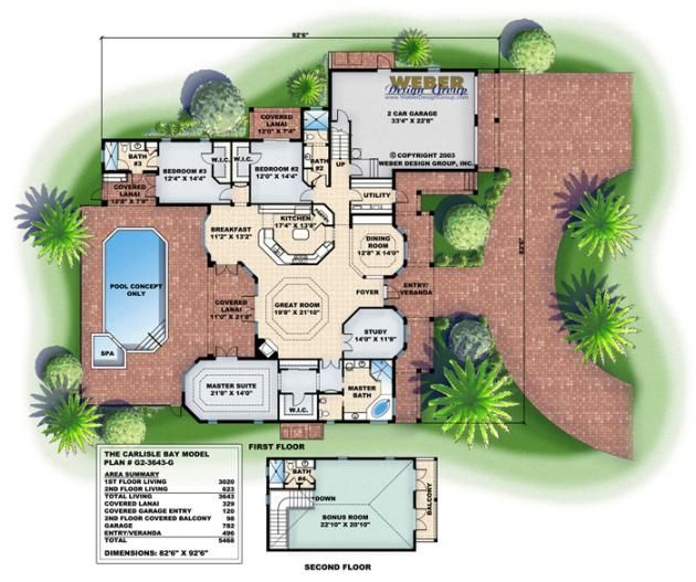 Carlisle Bay House Plan-Wrap Around Porch House Plans ... on
