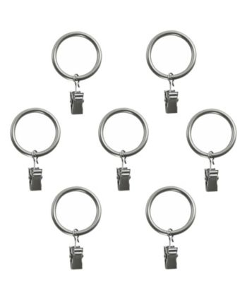 Montevilla Curtain Clip Rings For 5 8 Inch Curtain Rod Set Of 7
