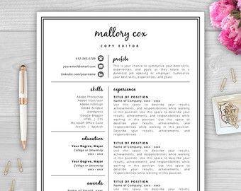 Creative Resume Template Word Creative Resume Design Modern