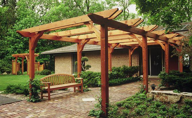 Image gallery japanese garden arbor for Japanese wooden garden structures