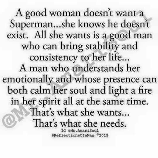 I need a good man