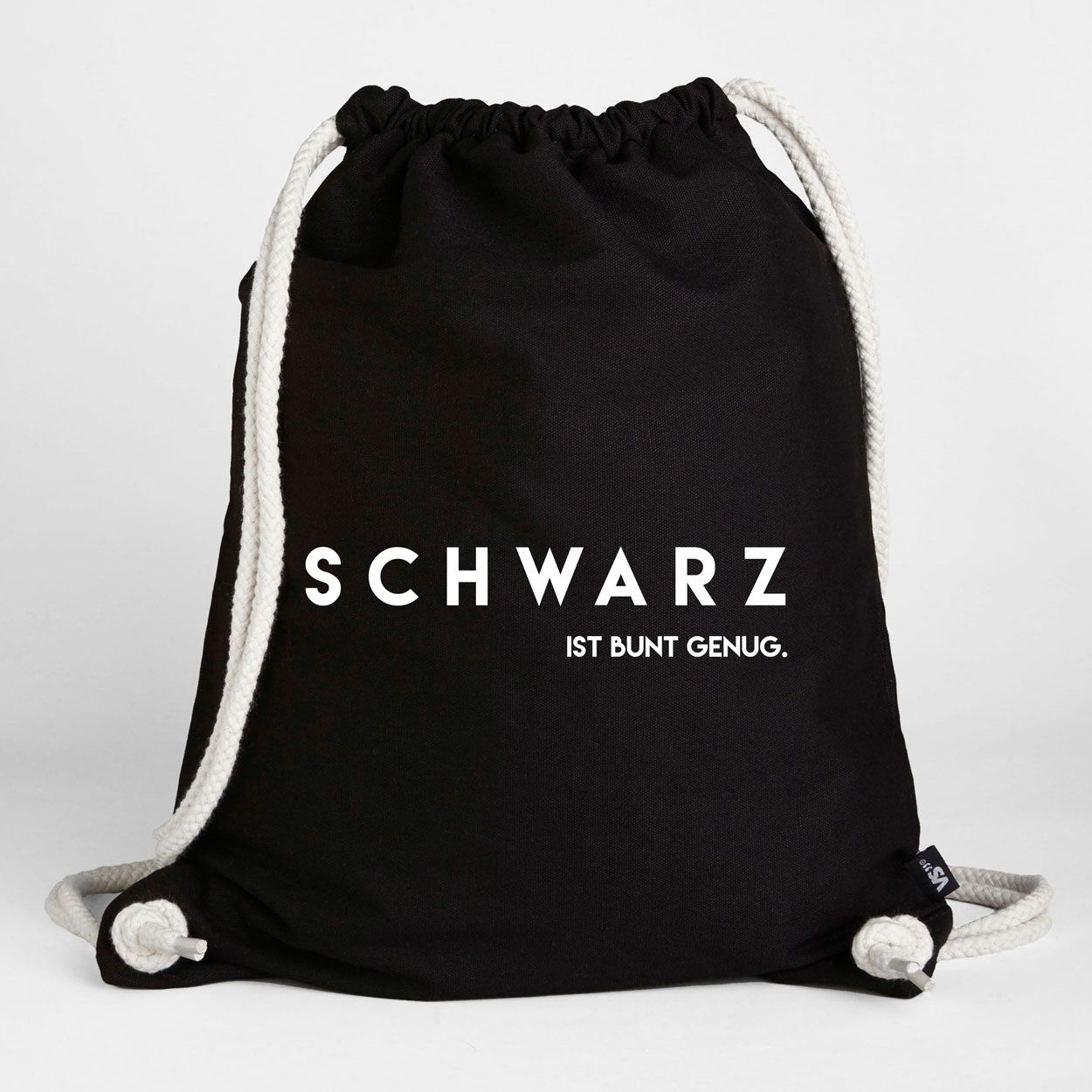 Schwarz ist bunt genug - Turnbeutel   Turnbeutel   Taschen   Accessoires    VISUAL STATEMENTS® 52faa71130