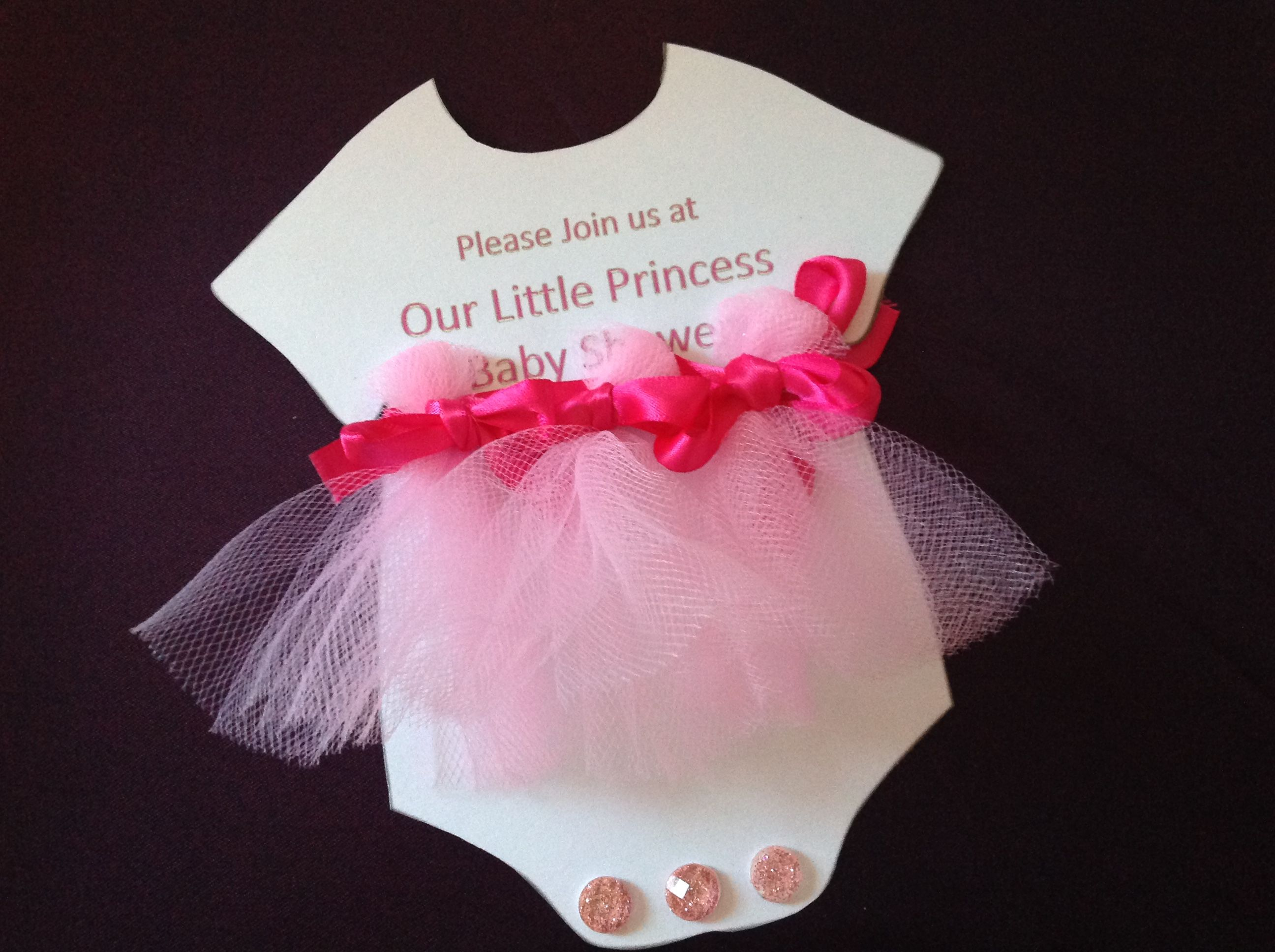 Tutu Cute Onesies Baby Shower Invitation By Ptree Design, Llc