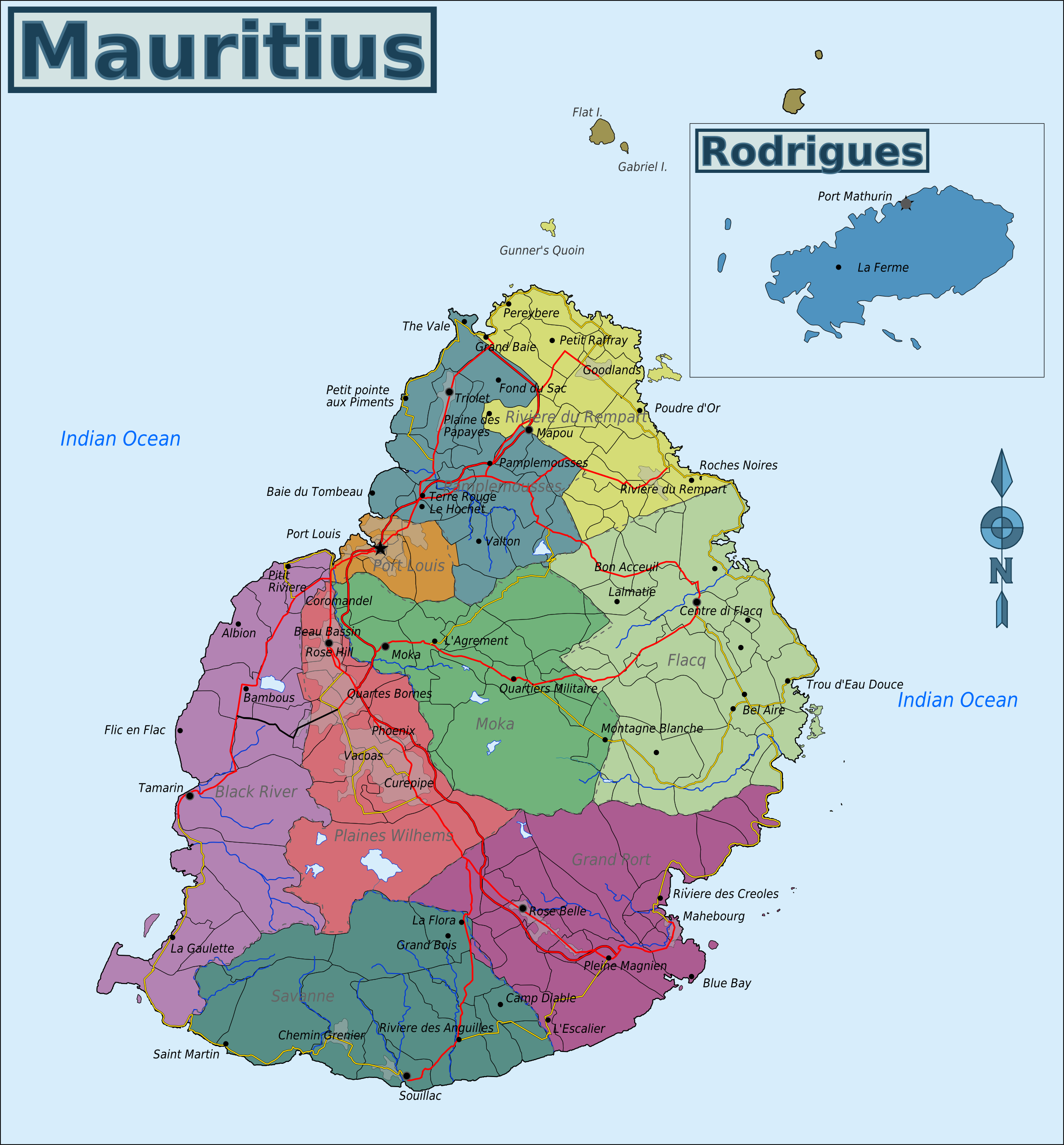 mauritius map |  africa maps of mauritius map of mauritius